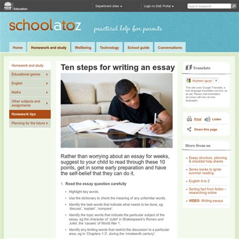 10 Steps To Writing An Essay by Ten Steps For Writing An Essay Pearltrees