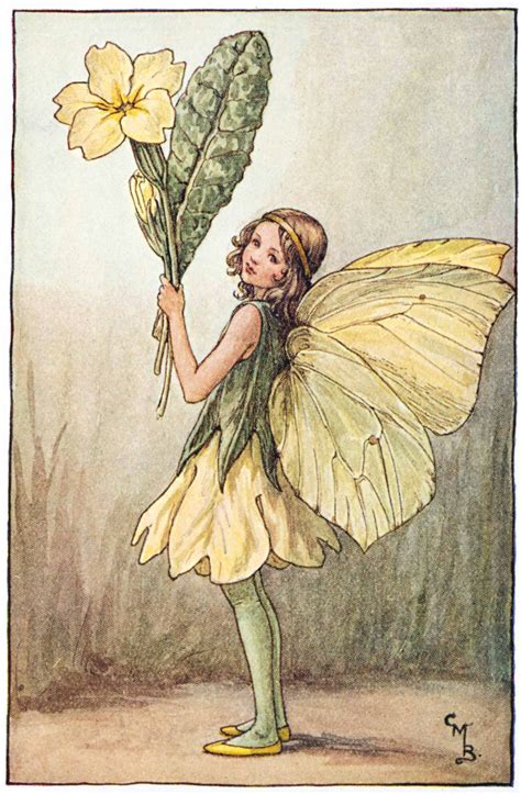 imagenes hadas vintage illustration for the primrose fairy from flower fairies of