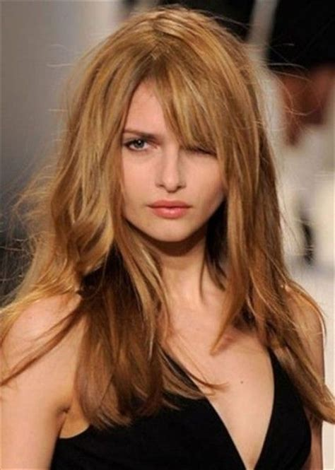 haircut for round face long hair with bangs best approach for long hairstyles for round faces