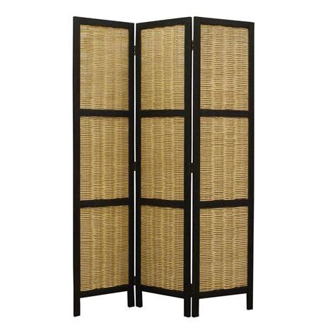 hudson 5 5 ft brown 3 panel room divider sg 188 the