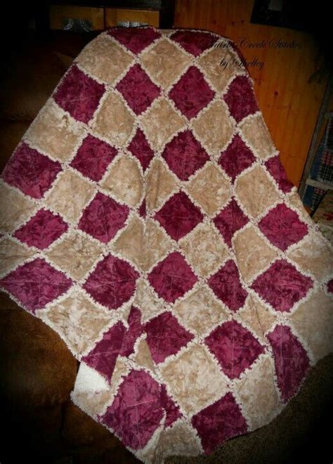 Burgundy Quilts by Rag Quilt In Burgundy Diy Crafts