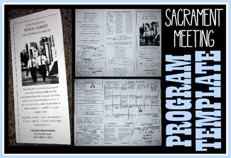 8 Best Sacrament Meeting Programs Images On Pinterest Church Ideas Lds Church And Lds Clipart Lds Sacrament Program Template