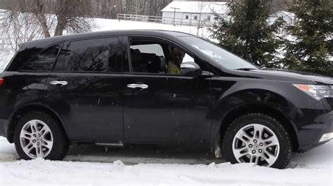 acura mdx snow tires acura mdx stuck in snow