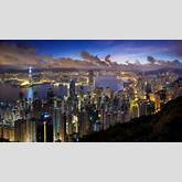 Download Wallpaper 3840x2160 city, hong kong, night, clouds, lights 4K ...
