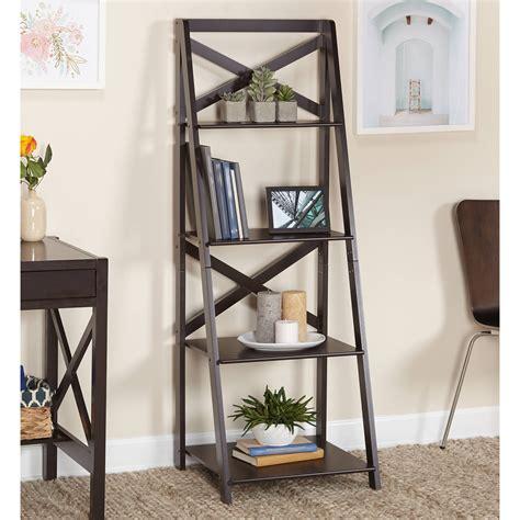 a frame ladder bookcase altra metal ladder bookcase set of 2 black walmart