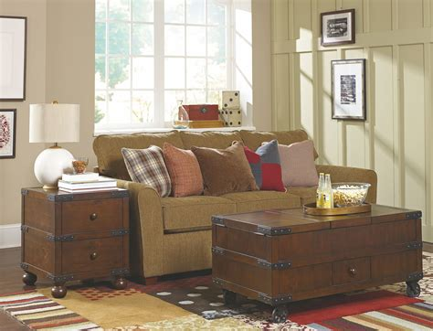 room treasures coupon code treasures brown trunk occasional table set from hammary 090 520 coleman furniture