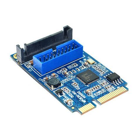 Usb Pci 20 motherboard mini pci express to dual usb 3 0 20 pin