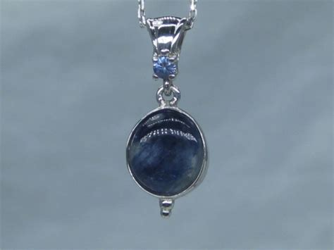 benitoite necklace benitoite cabochon necklace 3 36 cts benitoite set in