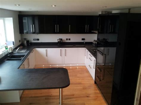 Tiled Kitchens Ideas wickes kitchen and oak floor p a jones carpentry