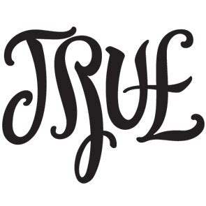 true false ambigram by john langdon an optical illusion