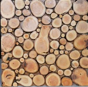Rustic Home Decor Wholesale Natural Wood Mosaic Tile Nwmt057 Round Shaped Wood Mosaic