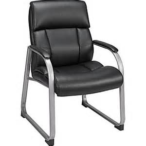 Herrick bonded leather guest waiting room office chair black ebay
