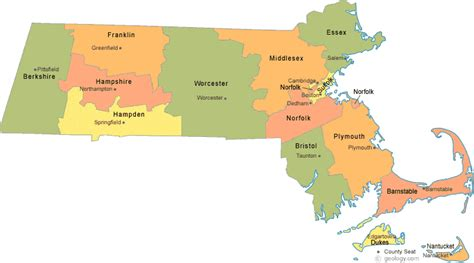 massachusetts county map massachusetts county map