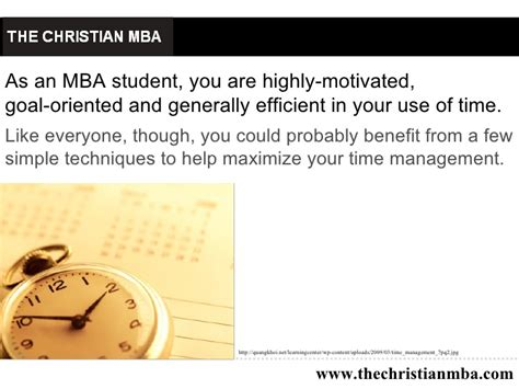Study Techniques For Mba Students by Time Management Tips For Mba Students