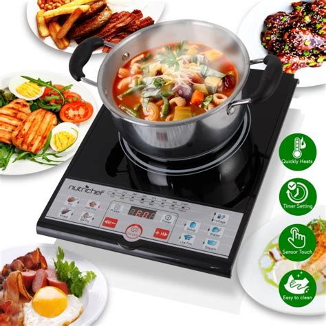 induction cooktop with temperature nutrichef pkstind26 kitchen cooking cooktops