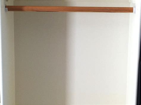 Wooden Closet Pole by If Caroline Can Build A Home Vo Studio So Can You Vo2gogo