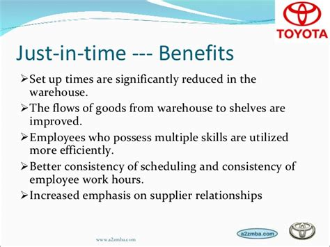 Toyota Employee Benefits Toyota Production System