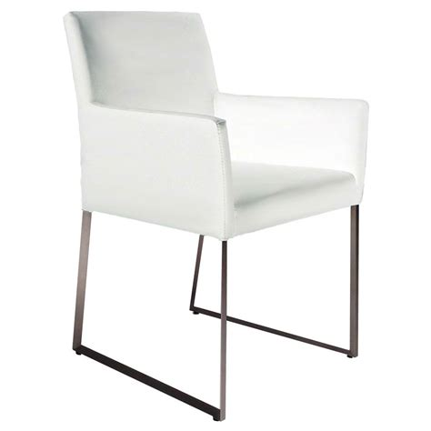 modern dining armchair modern dining chairs tobias white arm chair eurway
