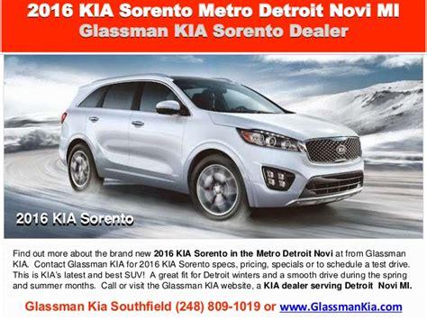 Kia Metro 2016 Kia Sorento Metro Detroit Novi Mi New Suv