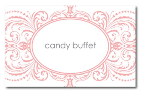 Buffet Table Cards Template by Belletristics Stationery Design And Inspiration For The