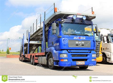 car carrier truck man tga 18 440 car carrier truck editorial stock image