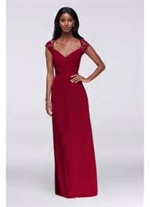 Purple Wedding Programs Long Mesh Dress With Lace Cap Sleeves Davids Bridal