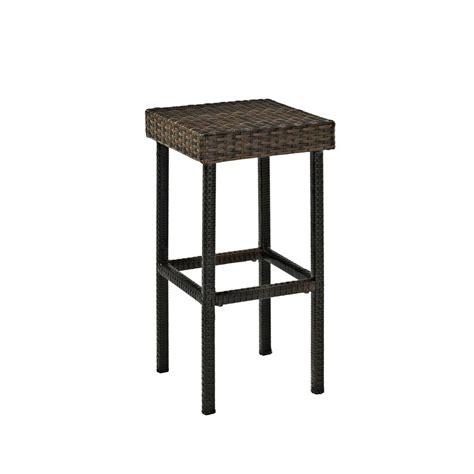 crosley wicker outdoor bar stool palm harbor  pack