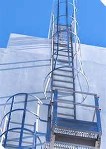 caged ladders and platforms alaco ladder company