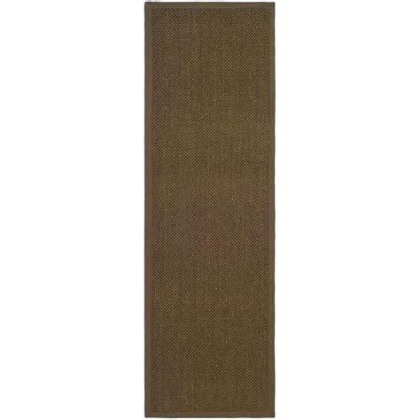 20 foot runner rug safavieh fiber brown 2 ft 6 in x 20 ft rug runner nf443d 220 the home depot