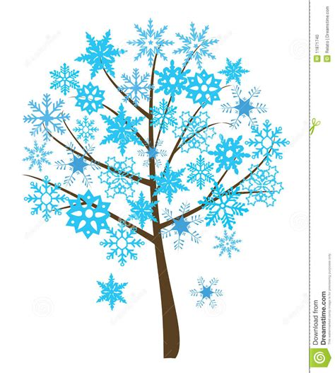 snowflake tree stock vector image of flourish nature