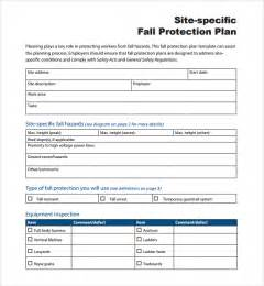 site specific safety plan template sle fall protection plan template 9 free documents