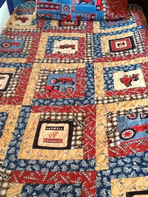 tractor quilt all international or farmall material