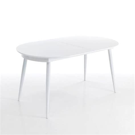 tavolo ovale allungabile moderno tavolo moderno ovale allungabile bianco con piano in legno