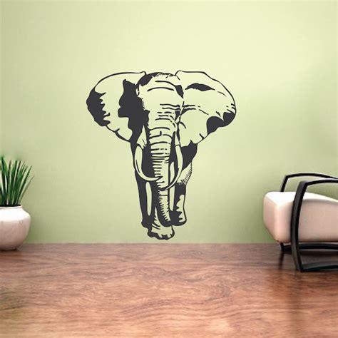 elephant wall sticker elephant vinyl wall decal large elephant stickers for