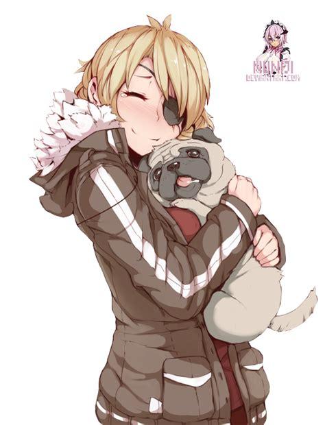 anime pug anime with pug png by nuniji on deviantart