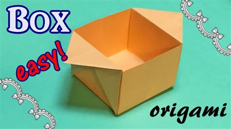 origami easy box origami box out of a4 paper easy and simple origami
