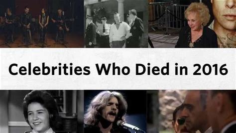 celebrities that died february 2016 final farewells celebrities who died in 2016 one news