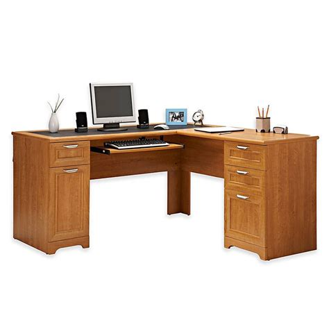 Realspace Magellan Corner Desk Realspace Magellan Collection L Shaped Desk 30 Quot H X 58 3 4 Quot W X 18 3 4 Quot D Honey Maple Home