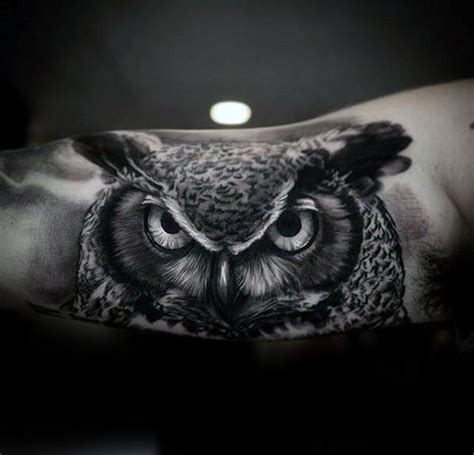 owl tattoos on arm 40 realistic owl designs for nocturnal bird ideas