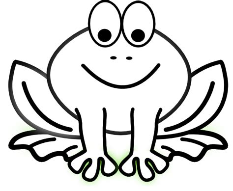 bug eyed frog outline clip art at clker com vector clip