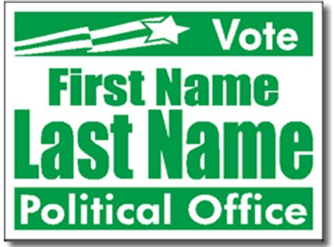 caign sign template political yard signs design p106