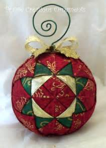 Handmade spark prairie creations ornaments quilted ball ornament