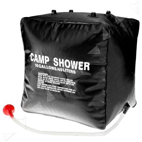 bathtub water bag 40l 10 gallons portable water bag bath shower solar energy