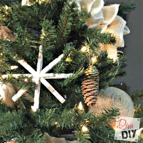 rustic christmas ornament gift ideas diva  diy