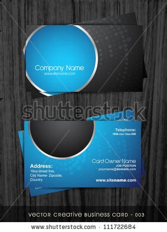 card template darkroom stylish business card template stock vector 111722684