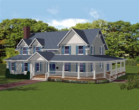 a country house to dream about decoholic delightful wrap around porch 61002ks architectural