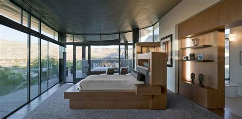 Inside Style Home And Design Las Vegas Bedroom Glass Walls Hill Views Modern Home In