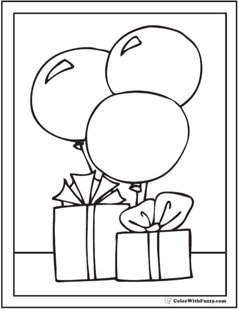birthday coloring pages pdf 55 birthday coloring pages customizable pdf