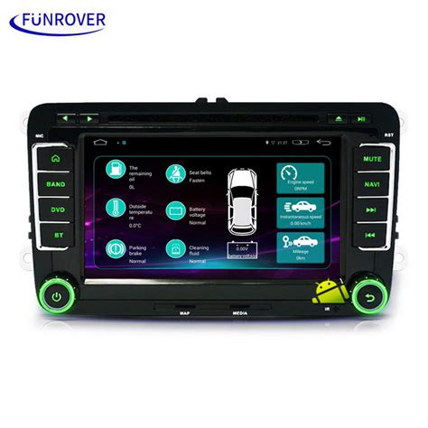 hd player for android funrover ls001 7 quot hd android car dvd player for skoda black free shipping dealextreme