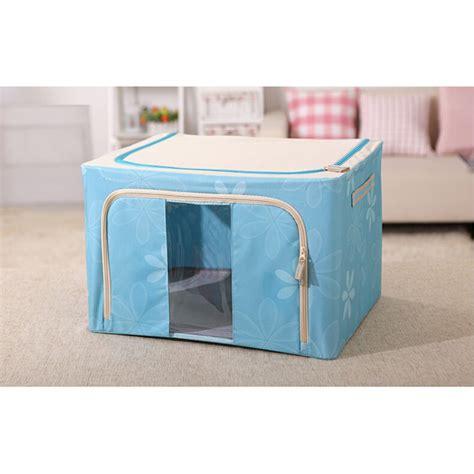 Kotak Penyimpanan Pakaian Foldable Cloth Storage Organizer Kotak Penyimpanan Pakaian Foldable Cloth Storage Organizer Blue Jakartanotebook